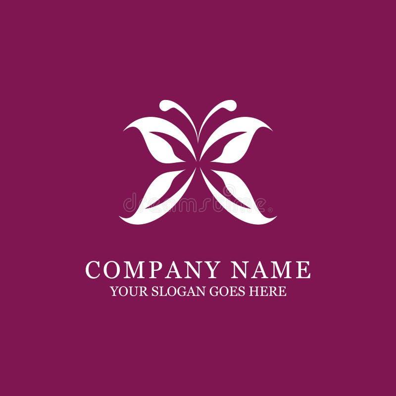 高雅蝴蝶商标设计、秀丽和时尚 皇族释放例证