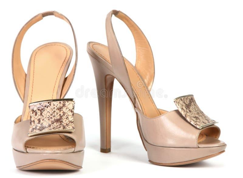 高鞋子妇女 免版税库存照片