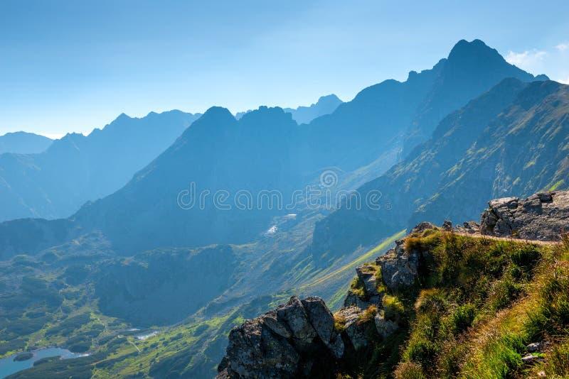 高风景山,美丽的景色 免版税库存照片