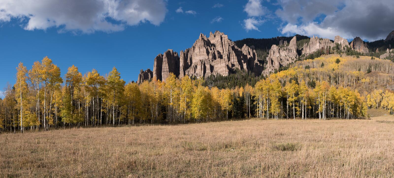 高Mesa石峰全景  库存照片
