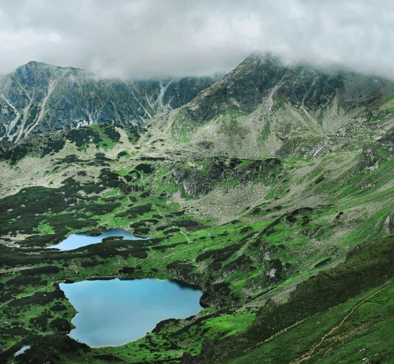 高Tatra山全景 免版税库存图片