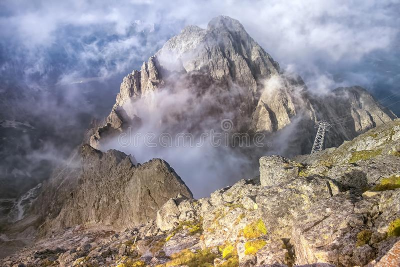高Tatra山在北斯洛伐克,欧洲 免版税库存照片