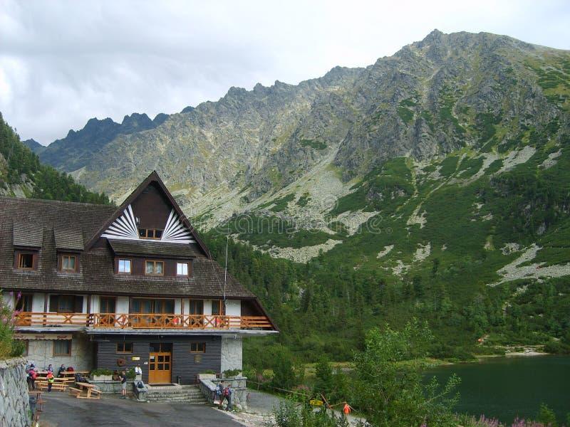 高Tatras在从风雨棚的斯洛伐克 免版税库存照片