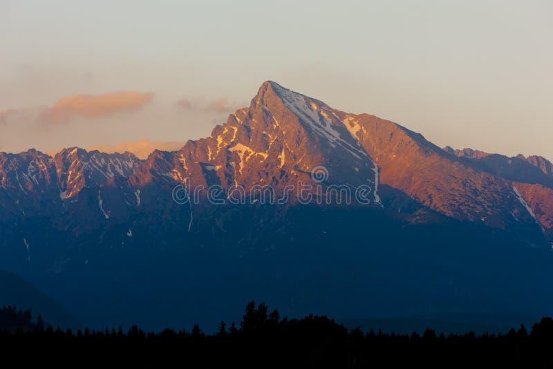 高Tatras,斯洛伐克 免版税库存图片