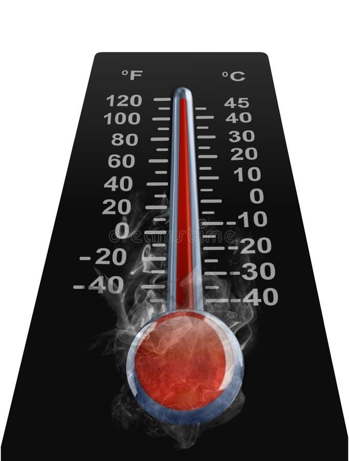 高tempreture温度计 向量例证