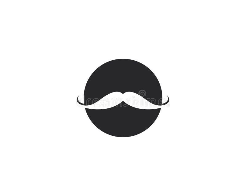 髭商标模板传染媒介 皇族释放例证