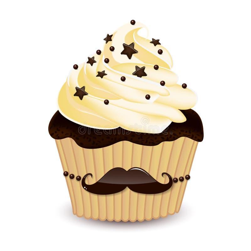 髭杯形蛋糕 皇族释放例证