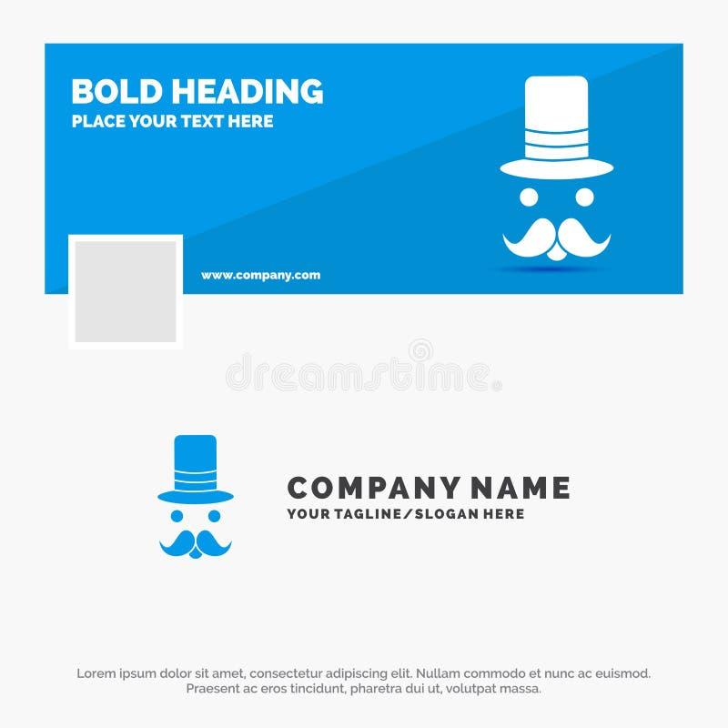 髭的,行家,movember,圣诞老人,帽子蓝色企业商标模板 r r 库存例证