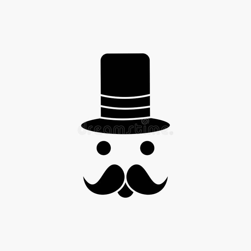 髭,行家,movember,圣诞老人,帽子纵的沟纹象 r 库存例证