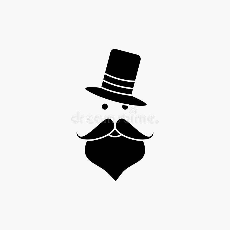 髭,行家,movember,圣诞老人,帽子纵的沟纹象 r 皇族释放例证