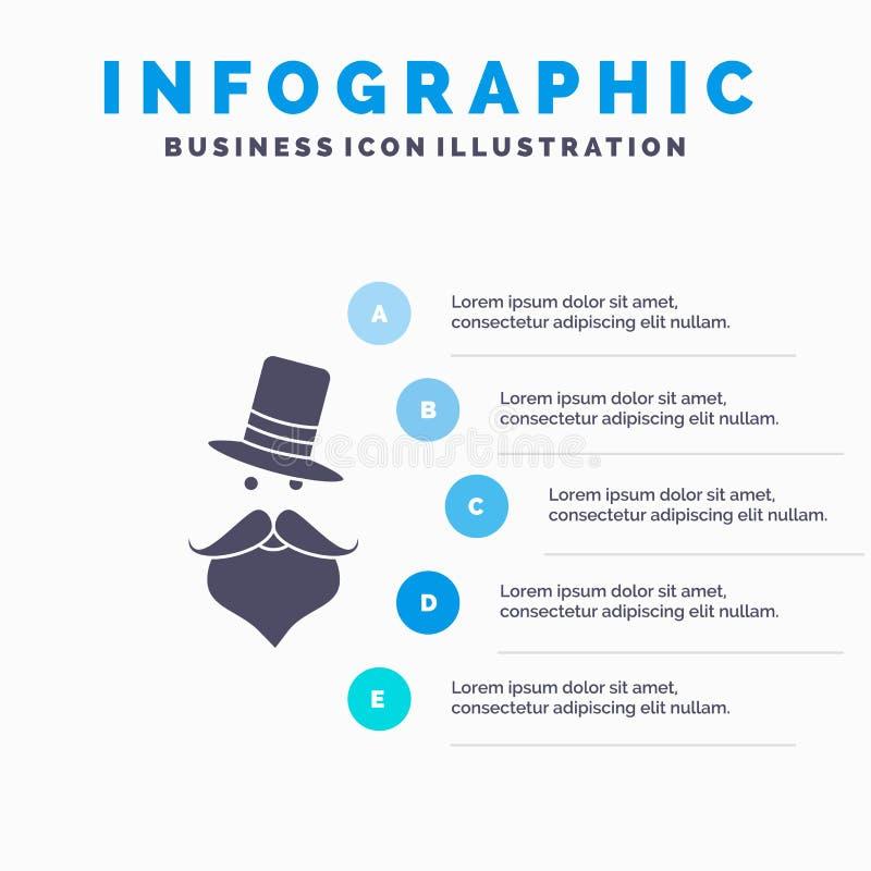 髭,行家,movember,圣诞老人,帽子网站和介绍的Infographics模板 r 向量例证