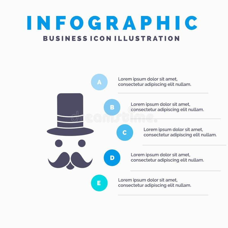 髭,行家,movember,圣诞老人,帽子网站和介绍的Infographics模板 r 皇族释放例证
