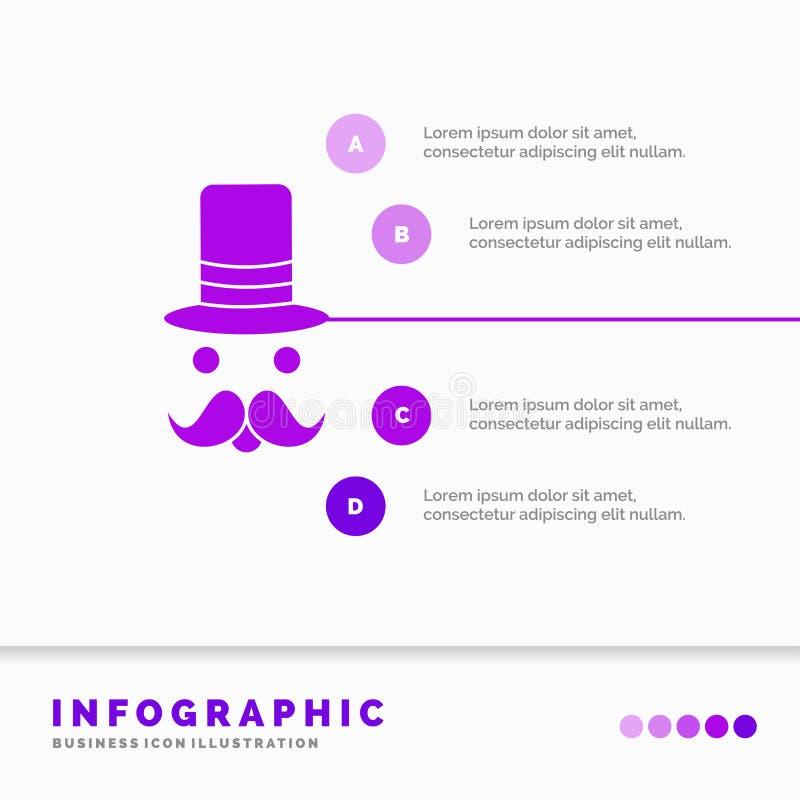 髭,行家,movember,圣诞老人,帽子网站和介绍的Infographics模板 r 库存例证