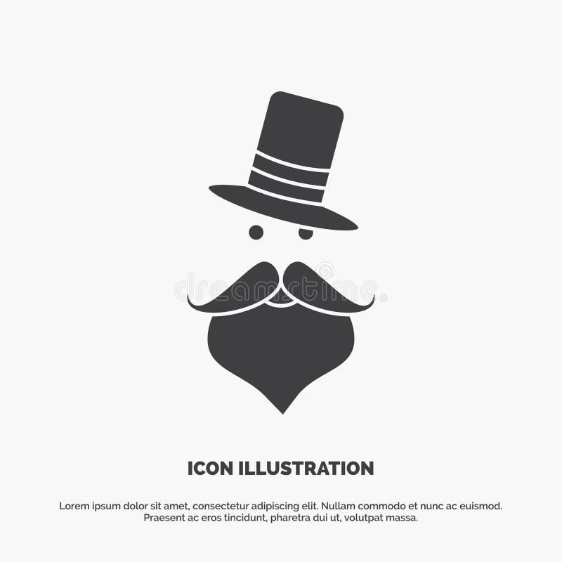 髭,行家,movember,圣诞老人,帽子象 r 皇族释放例证