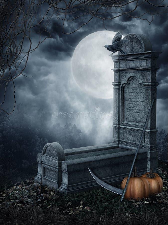 鬼的墓碑 皇族释放例证
