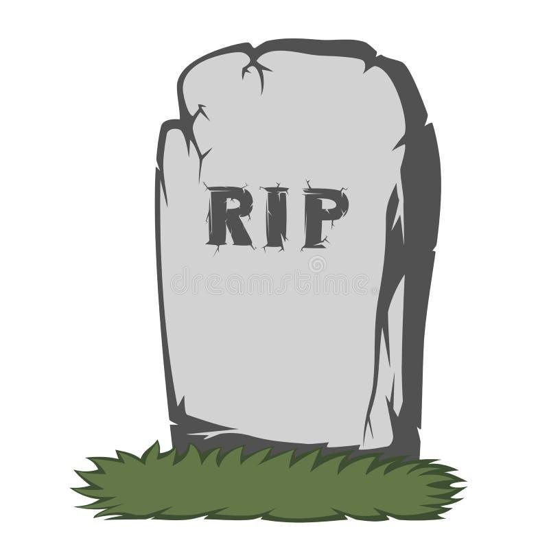 鬼的墓碑 向量例证