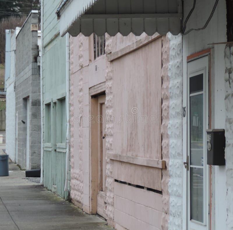 鬼的被放弃的街道 免版税图库摄影