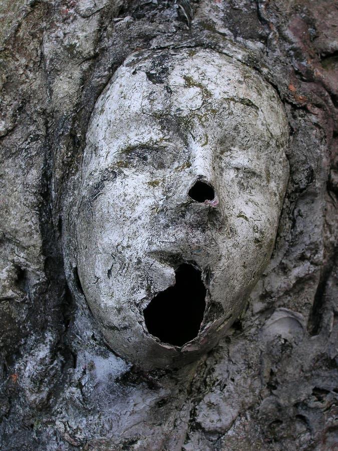 鬼的雕象 库存图片