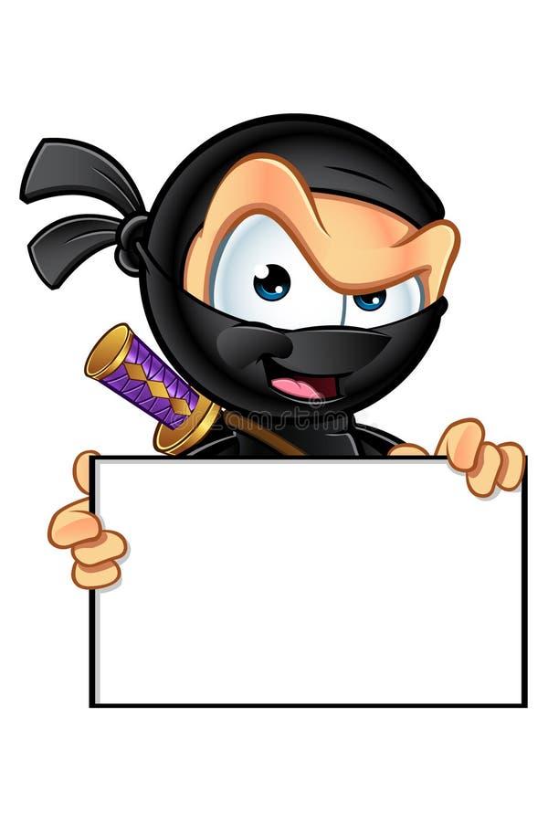 鬼祟看的Ninja字符 皇族释放例证