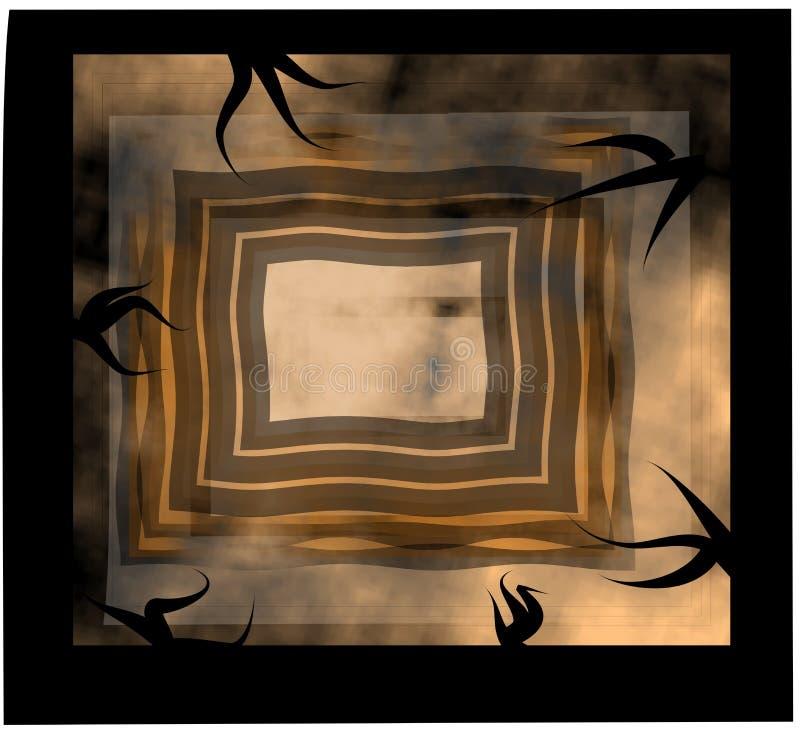 鬼设计的长方形 免版税图库摄影