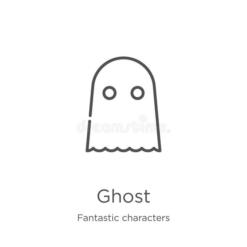 鬼魂从意想不到的字符收藏的象传染媒介 稀薄的线鬼魂概述象传染媒介例证 概述,稀薄的线鬼魂 皇族释放例证