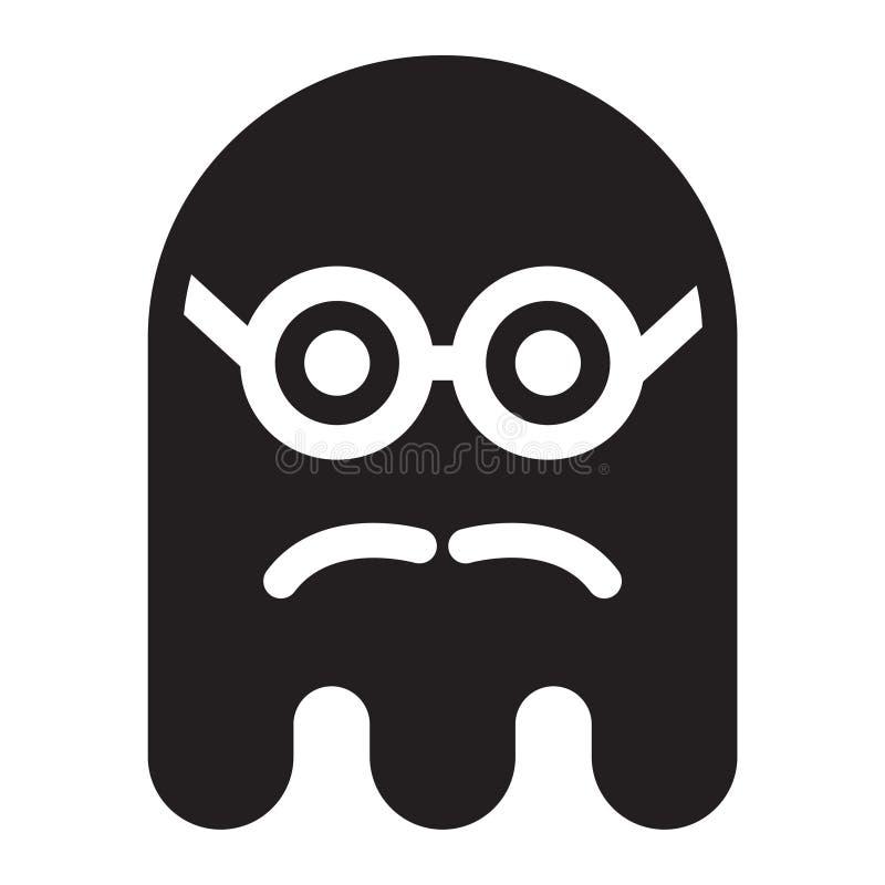 鬼魂怪杰聪明的髭面孔 向量例证