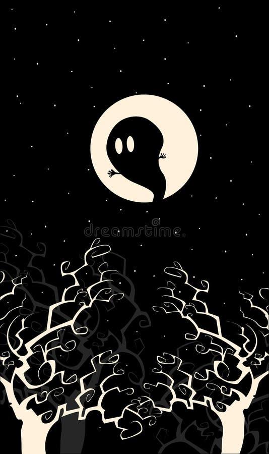 鬼魂晚上 皇族释放例证