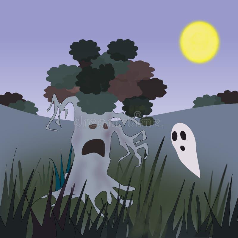 鬼魂结构树 库存例证