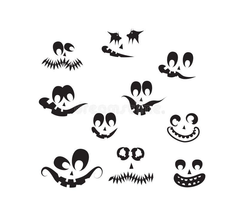 鬼魂面孔,南瓜面孔 库存例证