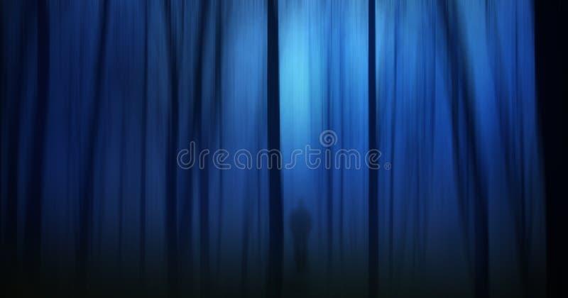 鬼黑暗的森林 向量例证