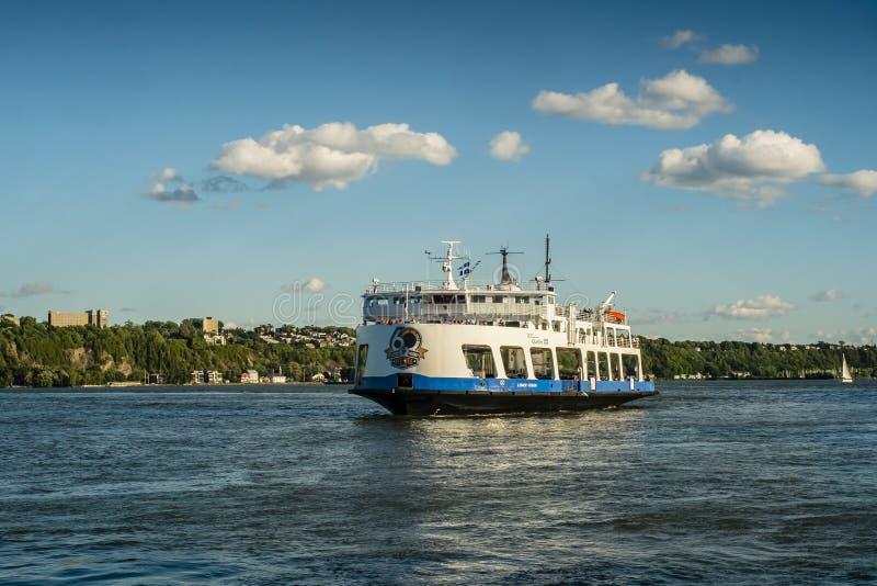 魁北克城市Lévis轮渡 库存照片