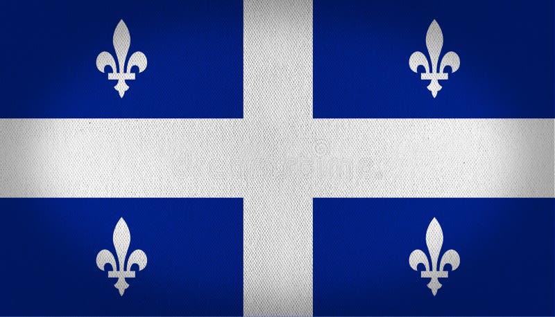 魁北克旗子 向量例证