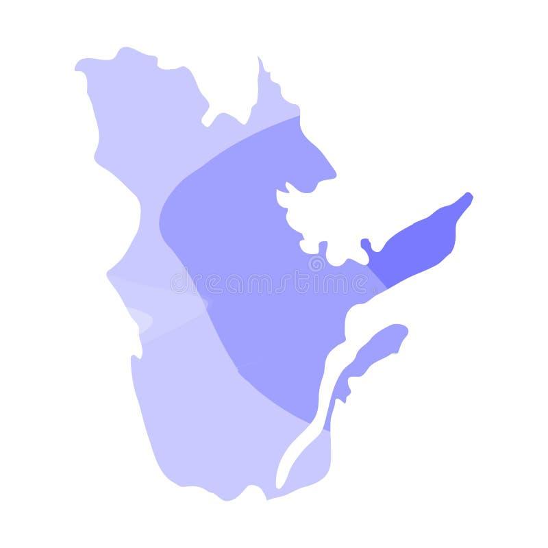 魁北克的政治地图 向量例证