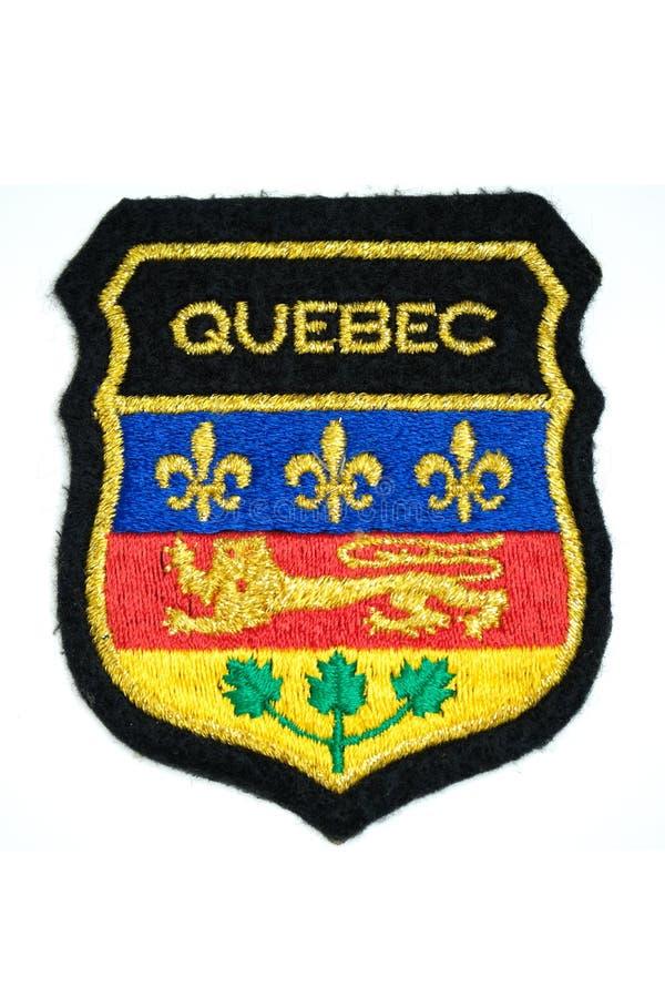 魁北克的省的胳膊代码  免版税库存图片