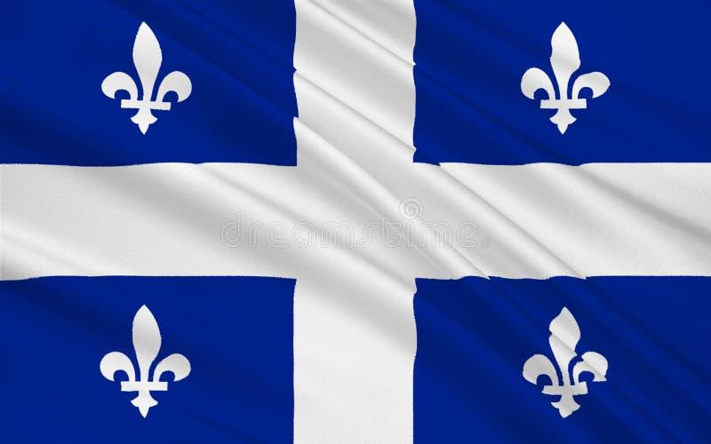 魁北克,加拿大的旗子 皇族释放例证