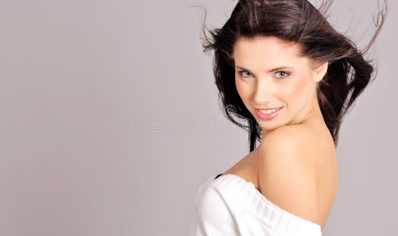 魅力发型妇女 免版税库存照片