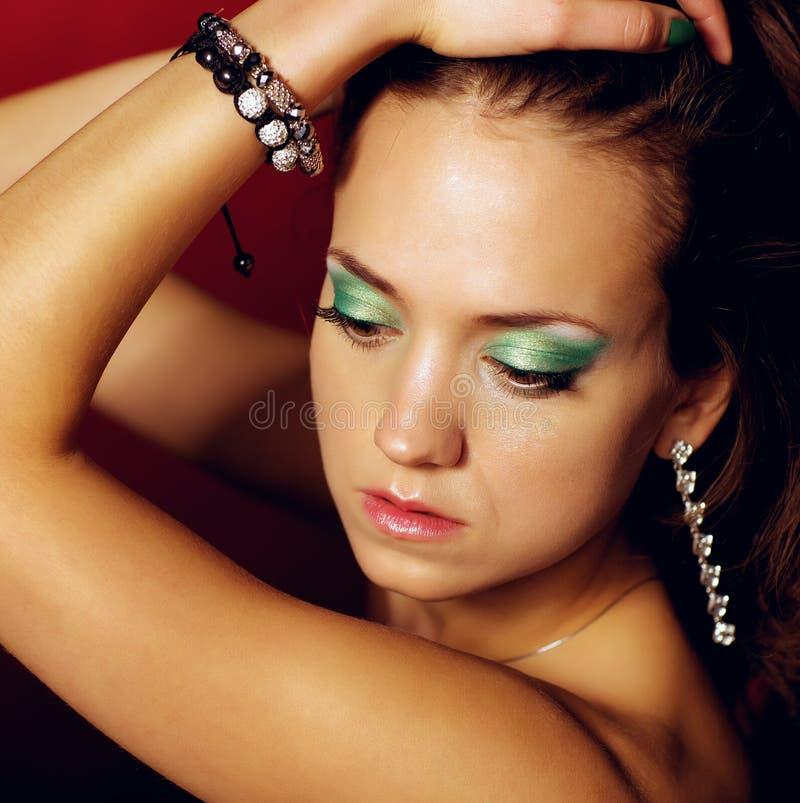 魅力女孩画象。 免版税库存图片