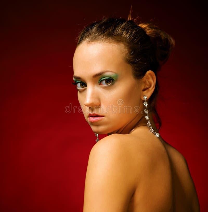 魅力女孩画象。 免版税图库摄影