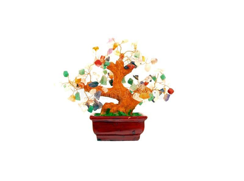 魅力宝石繁荣结构树 库存图片