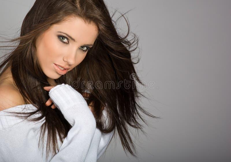 魅力纵向妇女 免版税库存照片