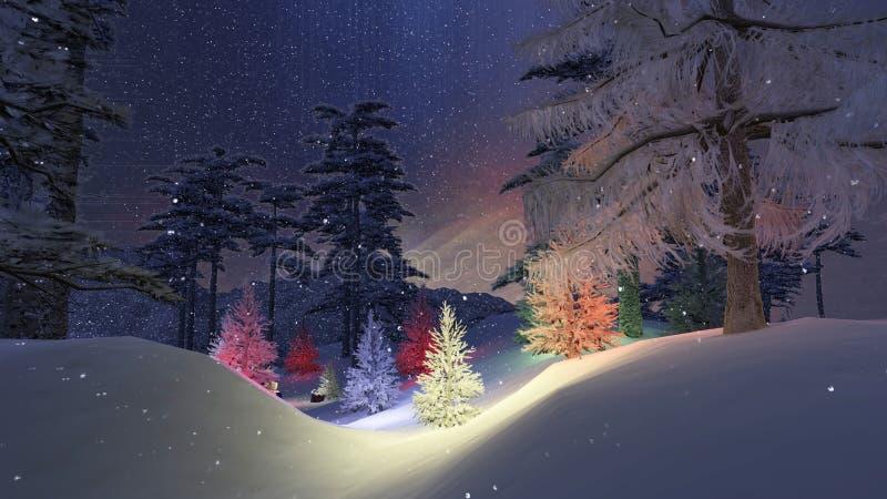 魔术圣诞夜 库存例证