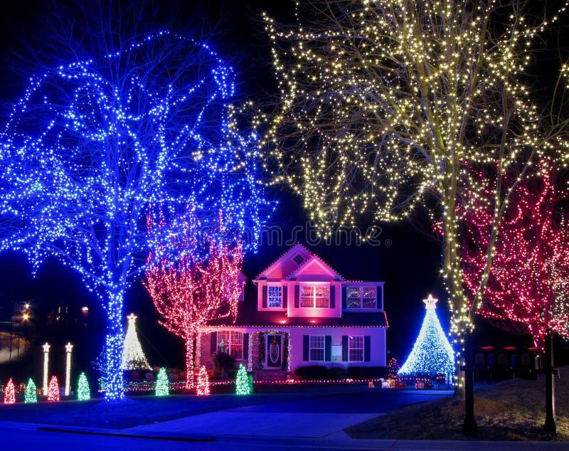 魔术圣诞节家 库存照片