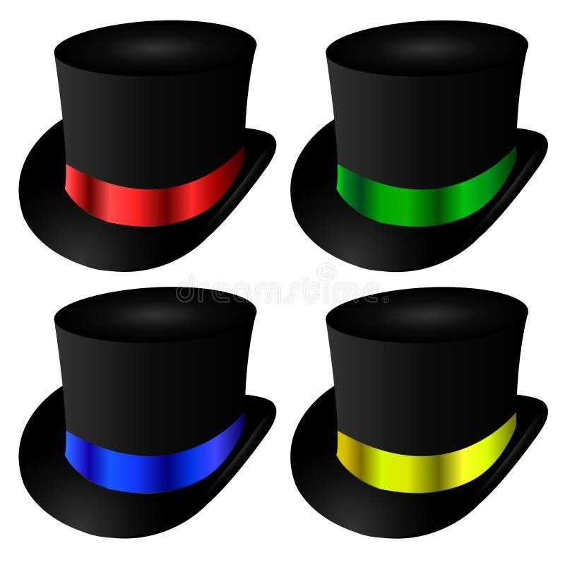 魔术师圆顶硬礼帽 皇族释放例证