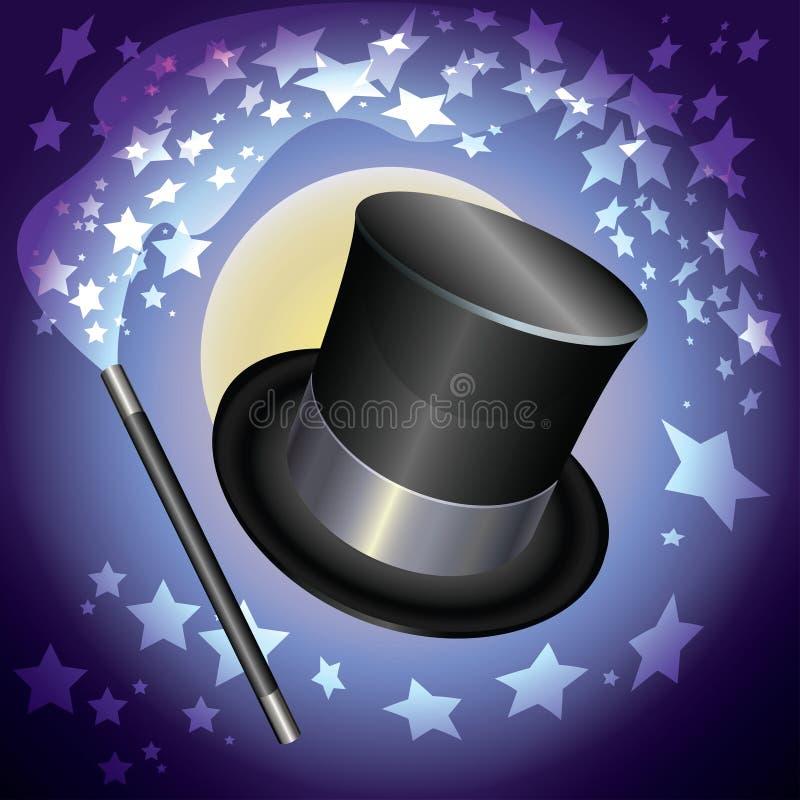 魔术师帽子 库存例证