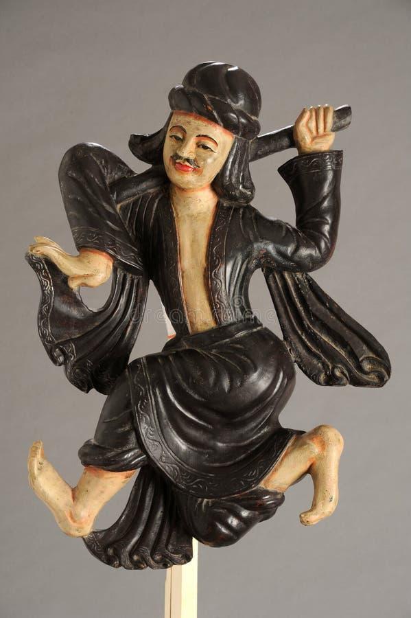 魔术师的缅甸雕象 库存图片