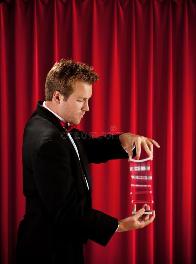 魔术师:拖曳卡片组 免版税库存照片