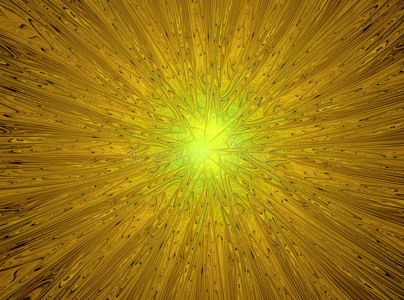 魔术星形 抽象黄色分数维构成 库存图片