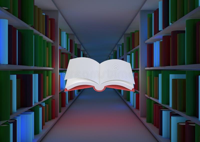 魔术概念的图书馆 向量例证