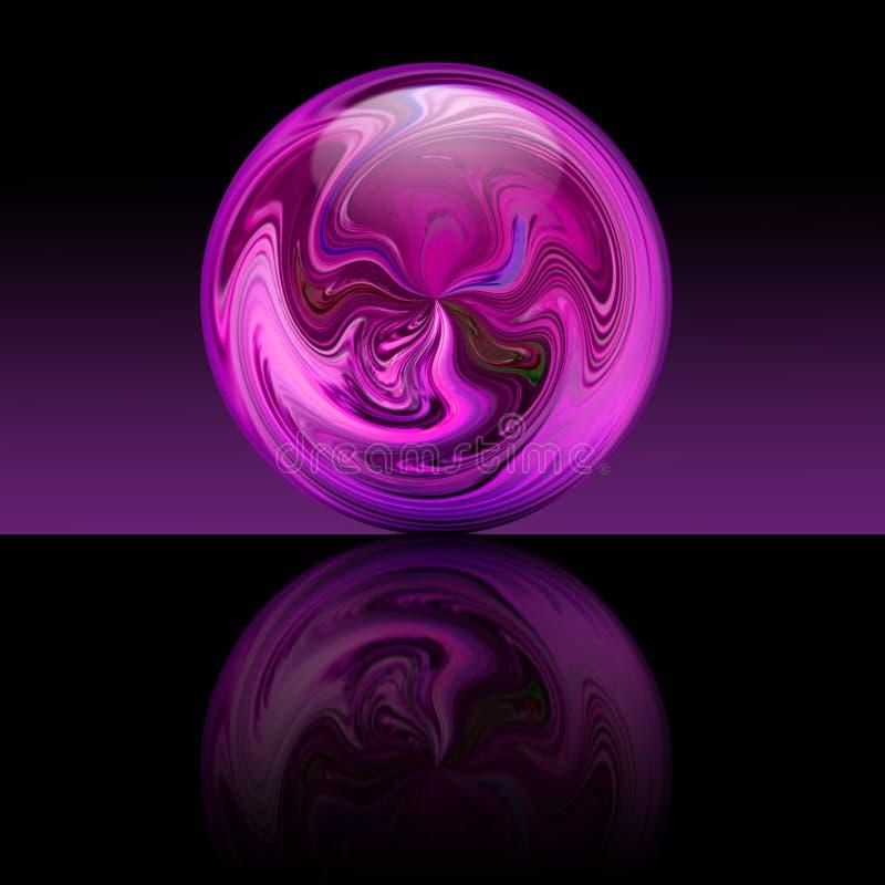 魔术紫色球 库存例证