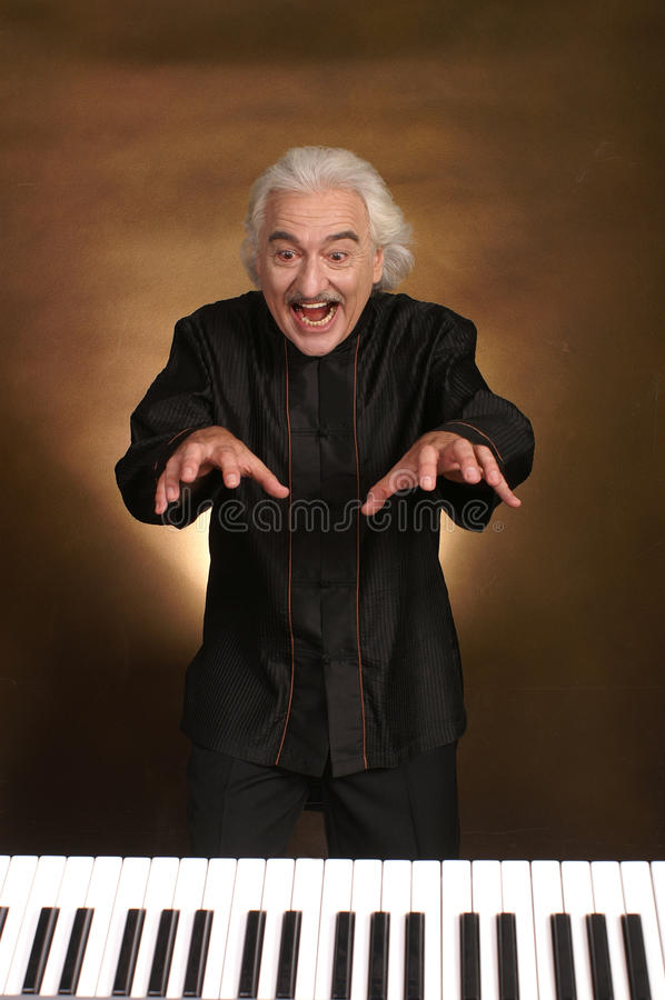 魔术音乐家 免版税库存图片